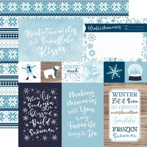 "Papel 12x12"" Winter Magic 4x6 Journaling Cards"