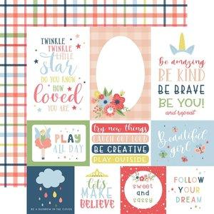 """Papel 12x12"""" Little Dreamer Girl Multi Journaling Cards"""