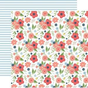 "Papel 12x12"" Little Dreamer Girl Dreamy Floral"