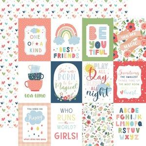 """Papel 12x12"""" Little Dreamer Girl 3""""X4"""" Journaling Cards"""