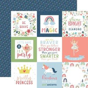 """Papel 12x12"""" Little Dreamer Girl 4""""X4"""" Journaling Cards"""