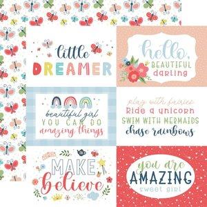 """Papel 12x12"""" Little Dreamer Girl 6""""X4"""" Journaling Cards"""