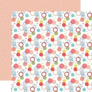 """Papel 12x12"""" Little Dreamer Girl Dancing Dots"""