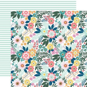 "Papel 12x12"" Pool Party Paradise Floral"
