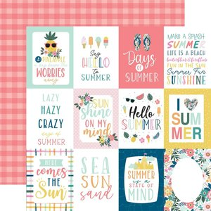 """Papel 12x12"""" Pool Party 3""""X4"""" Journaling Cards"""