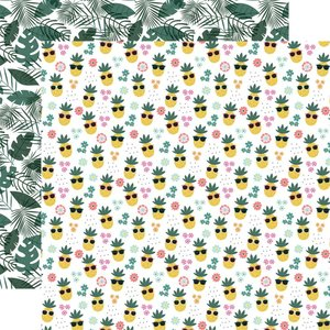 """Papel 12x12"""" Pool Party Pineapple Paradise"""