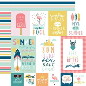 """Papel 12x12"""" Pool Party Multi Journaling Cards"""