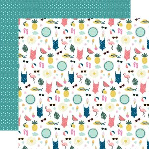 """Papel 12x12"""" Pool Party Beach Day"""