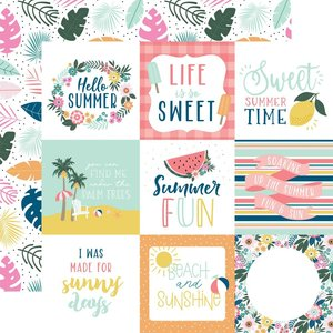 """Papel 12x12"""" Pool Party 4""""X4"""" Journaling Cards"""