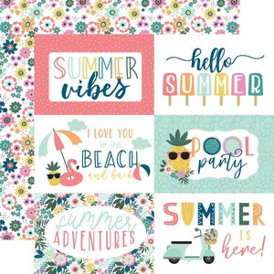 """Papel 12x12"""" Pool Party 6""""X4"""" Journaling Cards"""