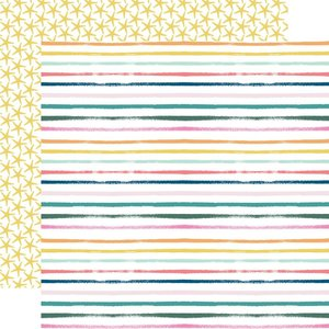 """Papel 12x12"""" Pool Party Summer Stripes"""