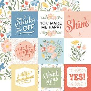 "Papel 12x12"" Salutations No 1 4""X4"" Journaling Cards"