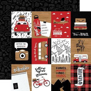 """Papel 12x12"""" Let's Go Anywhere 3""""X4"""" Journaling Cards"""