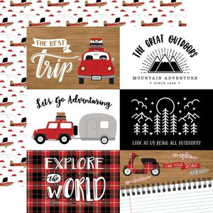 """Papel 12x12"""" Let's Go Anywhere 6""""X4"""" Journaling Cards"""