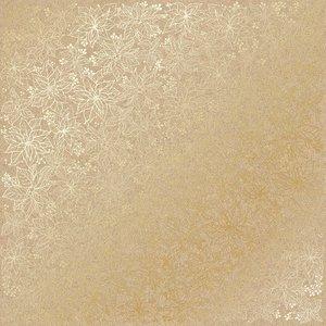 Papel Emboss Gold Foil Poinsettia Kraft