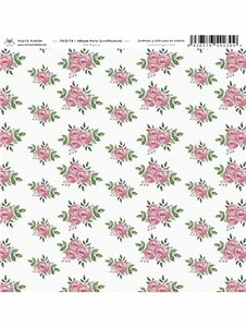 "Vellum 12x12"" Fridita Art Home Flores"