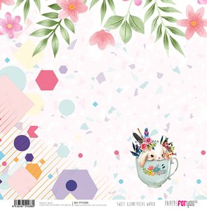 "Papel 12x12"" Sweet Geometrical World 4"