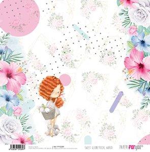 "Papel 12x12"" Sweet Geometrical World 5"