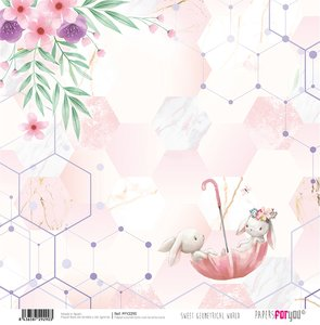 "Papel 12x12"" Sweet Geometrical World 6"