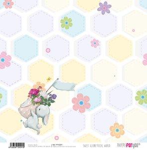 "Papel 12x12"" Sweet Geometrical World 7"