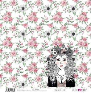 "Papel 12""x12"" Carnival Flowers 5"