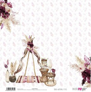 "Papel 12x12"" Papers For You Boho Wedding Style 2"