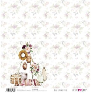 "Papel 12x12"" Papers For You Boho Wedding Style 6"