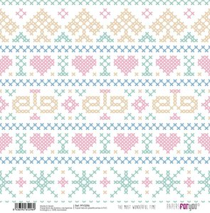 """Papel Tela 12x12"""" Papers For You The Most Wonderful Time 1"""