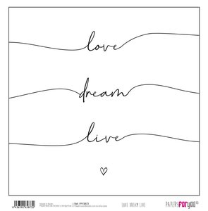 """Papel 12x12"""" Papers For You Love Dream Live 4"""