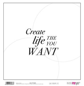 """Papel 12x12"""" Papers For You Love Dream Live 9"""