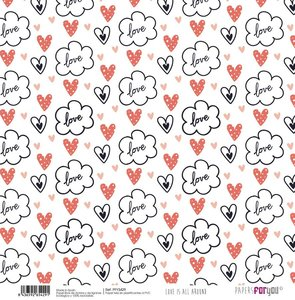 """Papel tela 12x12"""" Papers For You Love is all Around 5"""