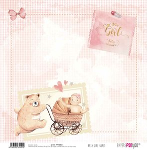 """Papel 12x12"""" Papers For You Baby Girl World 1"""