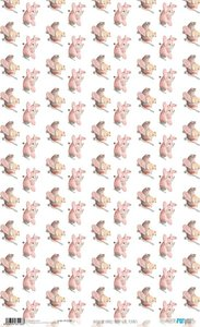 Papel de arroz 54x33 cm Papers For You Baby Girl World 2