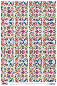 Papel Cartonaje Colores del Mundo Flores