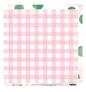 """Papel 12""""x12"""" Color Fresh Tickled Pink"""