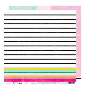 """Papel 12""""x12"""" Color Fresh Fine Line"""