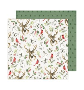 "Papel 12""x12"" Winter Wonderland Woodland Wonderland"