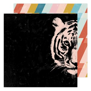 "Papel 12x12"" Hey Tiger Old School de Heidi Swapp"