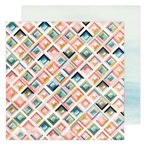 "Papel 12x12"" City Grid Old School de Heidi Swapp"