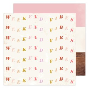 "Papel 12x12"" Weekend Vibe Old School de Heidi Swapp"