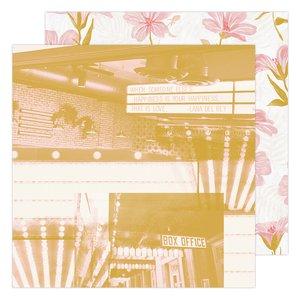 """Papel 12x12"""" Matinee Old School de Heidi Swapp"""