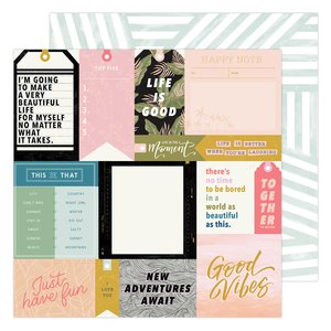"Papel 12x12"" Urban Stories Old School de Heidi Swapp"
