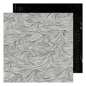 "Papel 12x12"" Making Waves Old School de Heidi Swapp"