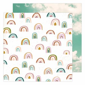 "Papel 12x12"" Care Free de Heidi Swapp Sunny Skies"