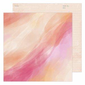 """Papel 12x12"""" Care Free de Heidi Swapp Sunset"""