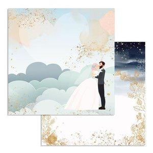 "Papel 12x12"" Clouds Col. Love Story de Johanna Rivero"