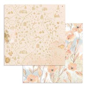 "Papel 12x12"" Flowers Col. Love Story de Johanna Rivero"