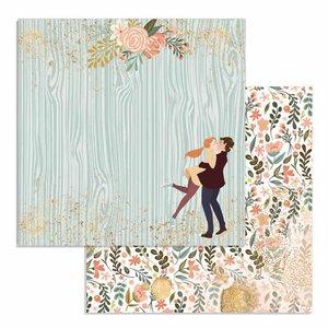 "Papel 12x12"" Lovers Col. Love Story de Johanna Rivero"