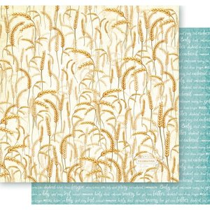 "Papel 12x12"" Holy Mint Days - Wheat Field"