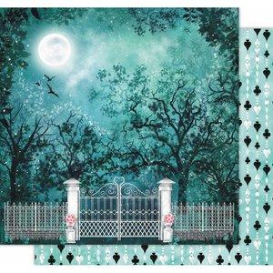 "Papel 12x12"" Wonderland de Kora Projects Night Garden"
